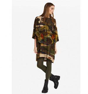 ottod'Ame Camo's Print Mini Dress