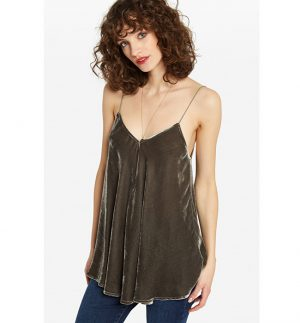 ottod'Ame Velvet Top with Thin Straps