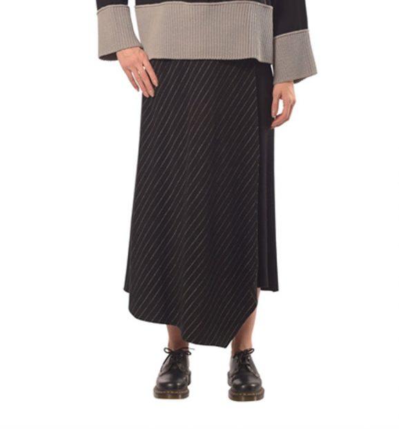 Crea Concept Black & White Knitted Skirt