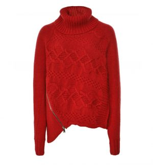 Crea Concept Wool Blend Cowl Neck Jumper
