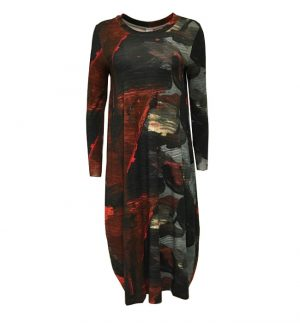 Crea Concept Abstract Print Jersey Maxi Dress 30137