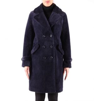 Rino & Pelle Gala Faux Fur Coat in Navy Blue 700W19/0773