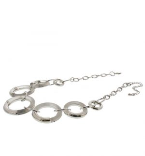 Nour London Silver Resin Oval Necklace