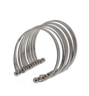Silver Multi Metal Strand Cuff