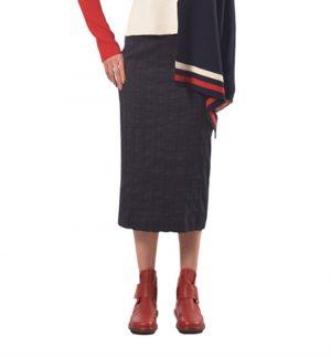 Crea Concept Midi Stripe Skirt