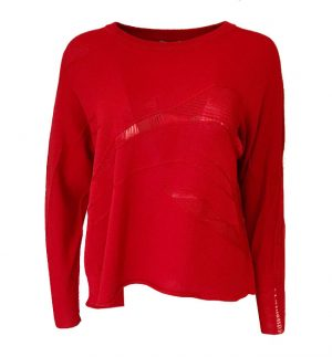 Crea Concept Knitted Jumper in Cherry Red 30186