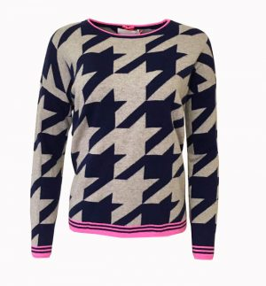 Cocoa Cashmere Houndstooth Jumper CC2161