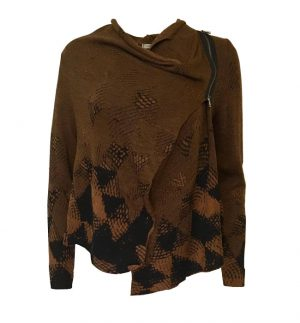 Crea Concept Asymmetrical Jumper in Chocolate 30242
