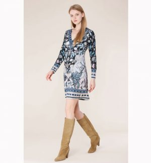 Hale Bob Tawny Jersey Dress