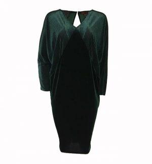 Bianco Levrin Melanie Geometric Midi Dress in Green