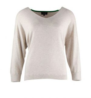 Zilch V-Neck Knit Sweater Sand