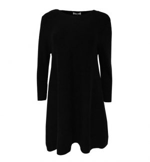 Caroline Cashmere Tunic Dress in Black