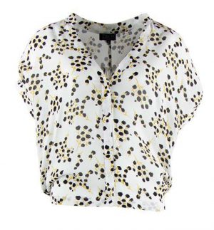 Zilch Black Blossom Blouse