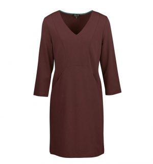 Zilch V-Neck Aubergein Dress