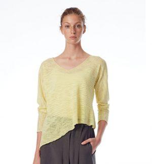 Crea Concept Asymmetric Fine Knit Top