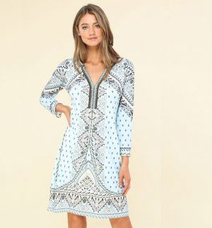 Hale Bob Anna Beaded Jersey Dress