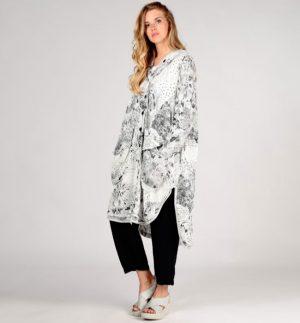Grizas Dress/Coat in Black Doodle 7331-T50P80/070