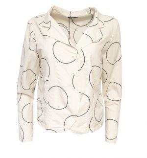 Grizas Cream Silk & Linen Jacket 7844-S14P70/070
