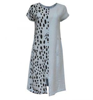Grizas Light Blue Dress in Animal Print 91199-L12P62-L12/185