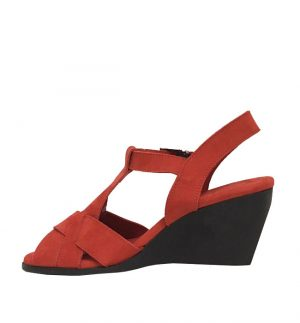 Arche Egypse Nubuck Fey in Deep Red