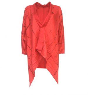 Bianco Levrin Gil Reversibla Jacket in Burgundy & Red Tiedye JG12