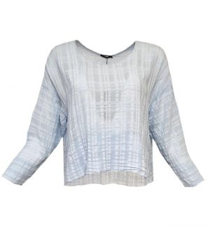 Grizas Cropped Light Blue Top 5696-S175/185