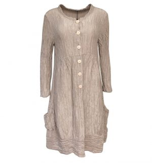Grizas Crinkled Coat/Dress in Soft Beige 71121-ST1/187