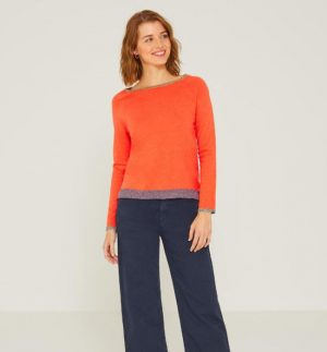 Yerse Contrast Detail Sweater