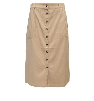 Yerse Beige Button Skirt 32828/004