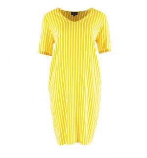 Zilch Honey Lines V-Neck Dress