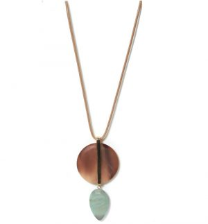 Envy Gold Green Pendant Necklace