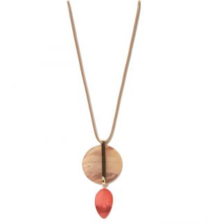 Gold Red Pendant Necklace