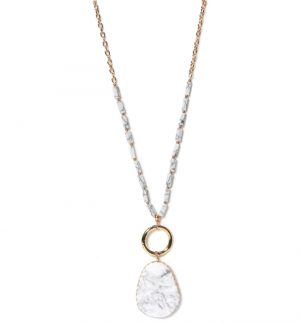Envy Jewellery White Marble Necklace 936/N/H