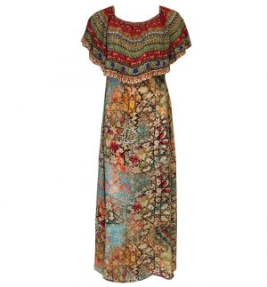 Inoa Rizo Maxi Multicolour Print Dress ARIZONA RIZO 1925