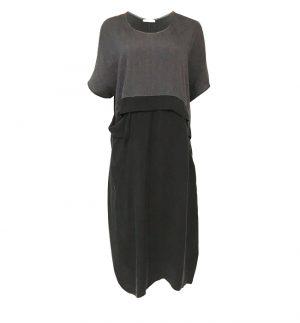 Crea Concept Long Dress with Asymmetrical Sleeves 31003