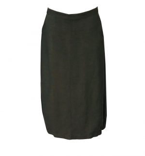 Crea Concept Two Pocket Skirt in Dark Khaki 31076