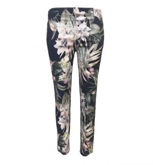 Robell Rose 09 Floral Print Trousers
