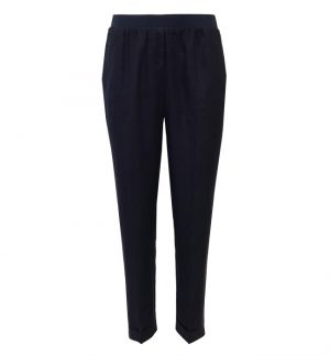 Rosso35 Linen Trousers in Navy N861P/752/01