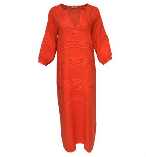 Rosso35 Long Tunic Dress in Red Grapefruit N1109V/774