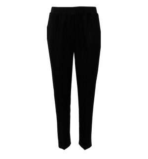 Rosso35 Linen Trousers in Black N861P/799/01