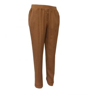 Rosso35 Linen Trousers in Light Brown N861P/743/01