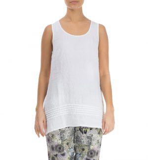Grizas A-Shape Line Top in White 52183-L12/151