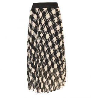 Floaty Long skirt in Black & White Check Senes 34-24001/1890