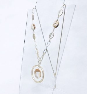 Envy Jewellery Long Necklace in Soft Gold & Semi Precious Stones BG/T/4431