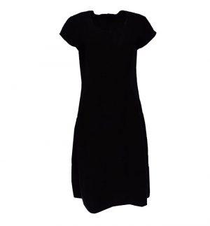 Grizas Balloon Shape Linen Dress in Black 91329-L5/17