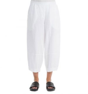 Grizas Loose & Cropped Trousers in White 3492-L5/151
