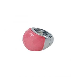 Envy Jewellery Ring in Silver & Hot Pink KIO/5543