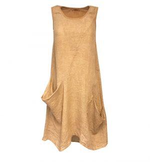 Sand Pocket Midi Dress