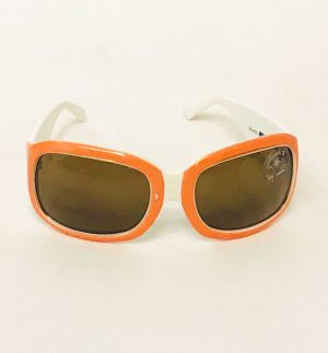 Eyes Kishimoto Big Retro Sunglasses in Orange & White