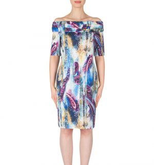 Joseph Ribkoff Dress in Multicolour Paisley Print 182660